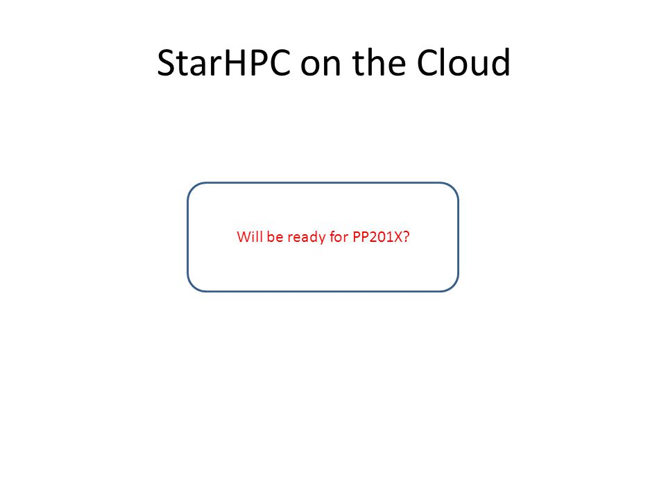 StarHPC on the Cloud Will be ready for PP201X