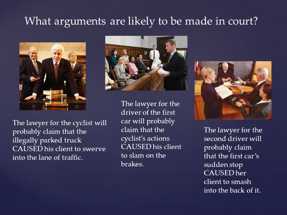 What arguments are likely to be made in court.