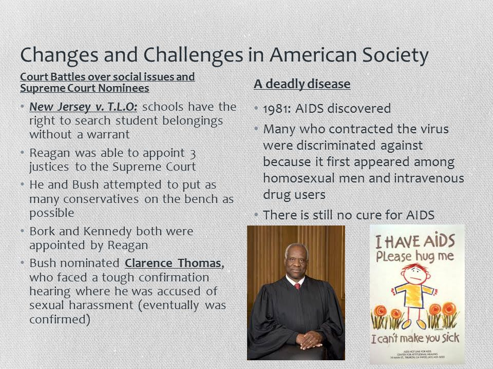 Changes and Challenges in American Society New Jersey v.
