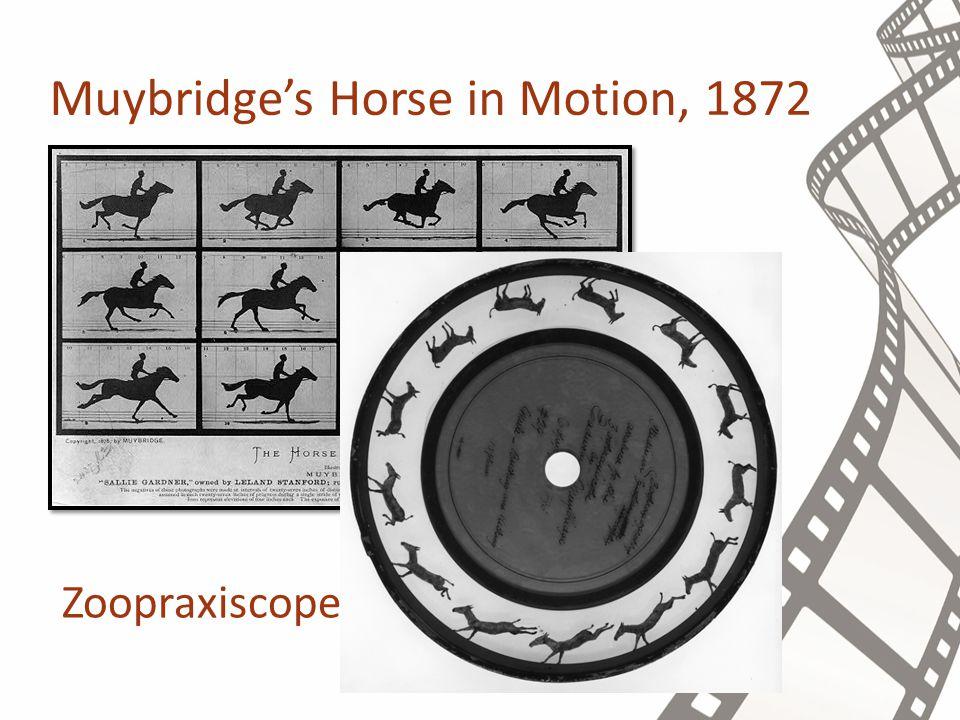 Muybridge's Horse in Motion, 1872 Zoopraxiscope