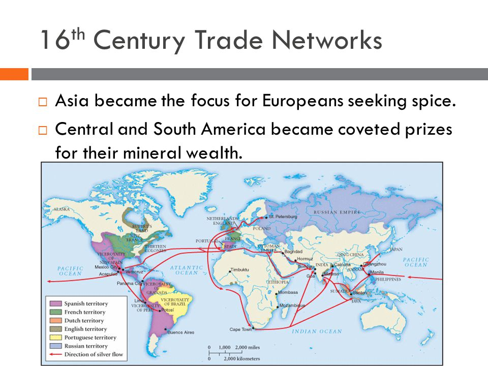 16 th Century Trade Networks  Asia became the focus for Europeans seeking spice.