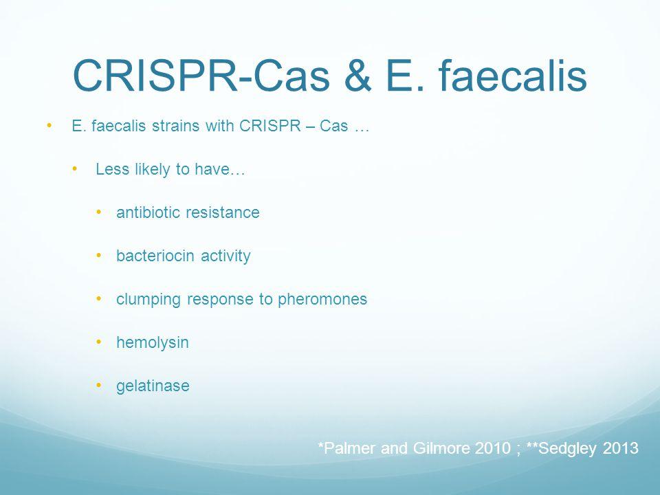 CRISPR-Cas & E. faecalis E.
