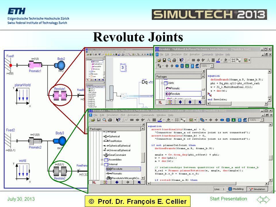 Start Presentation July 30, 2013 Revolute Joints