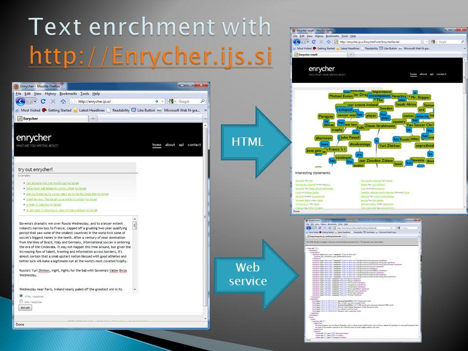 HTML Web service