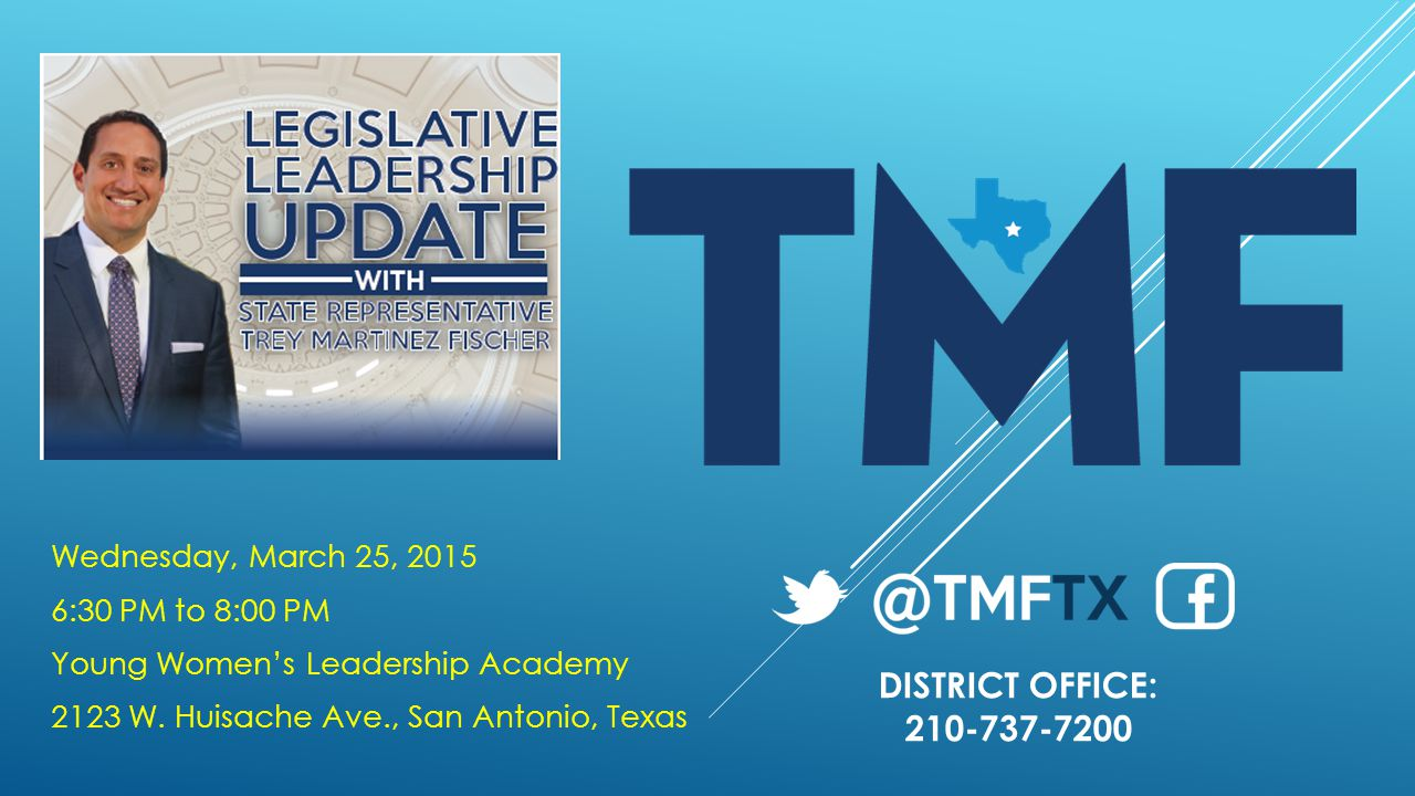 Wednesday, March 25, 2015 6:30 PM to 8:00 PM Young Women's Leadership Academy 2123 W.