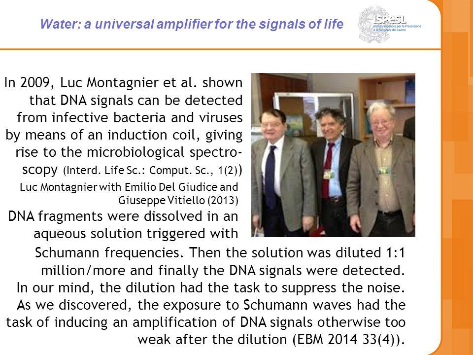In 2009, Luc Montagnier et al.