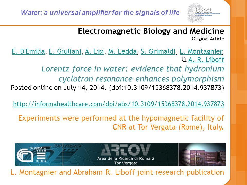 Electromagnetic Biology and Medicine Original Article E.