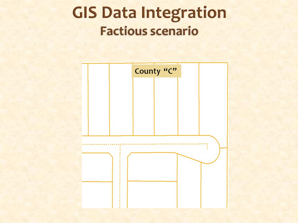 Factious scenario GIS Data Integration Factious scenario County C
