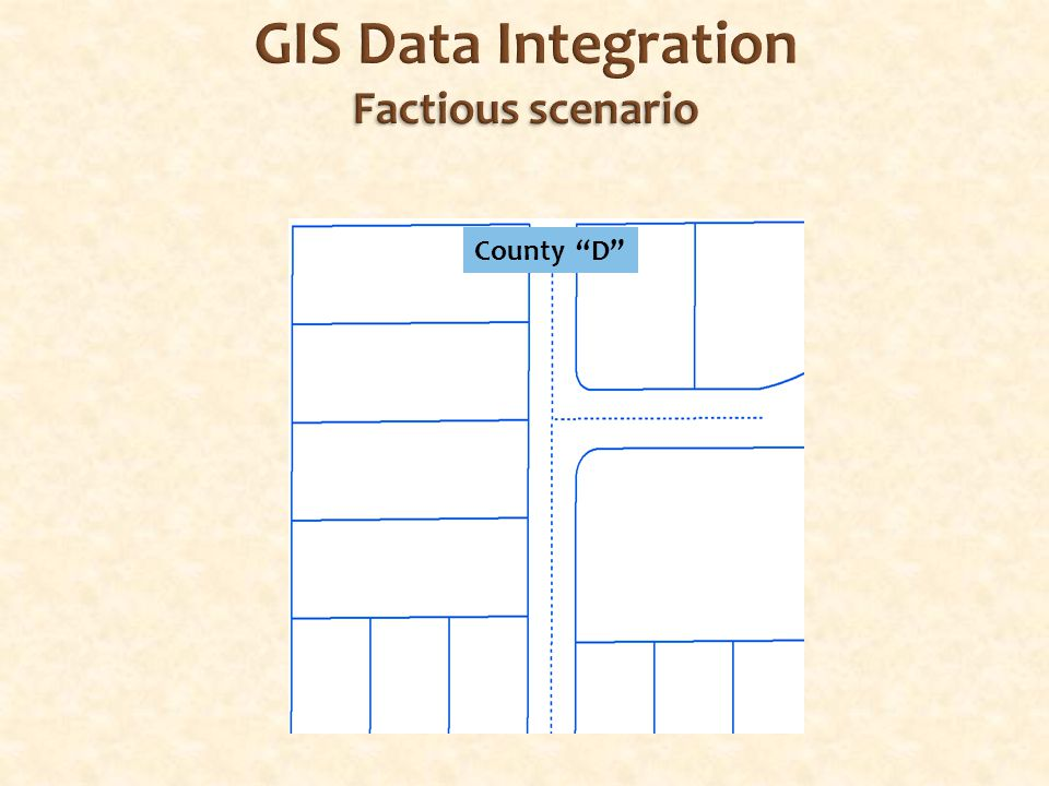 Factious scenario GIS Data Integration Factious scenario County D