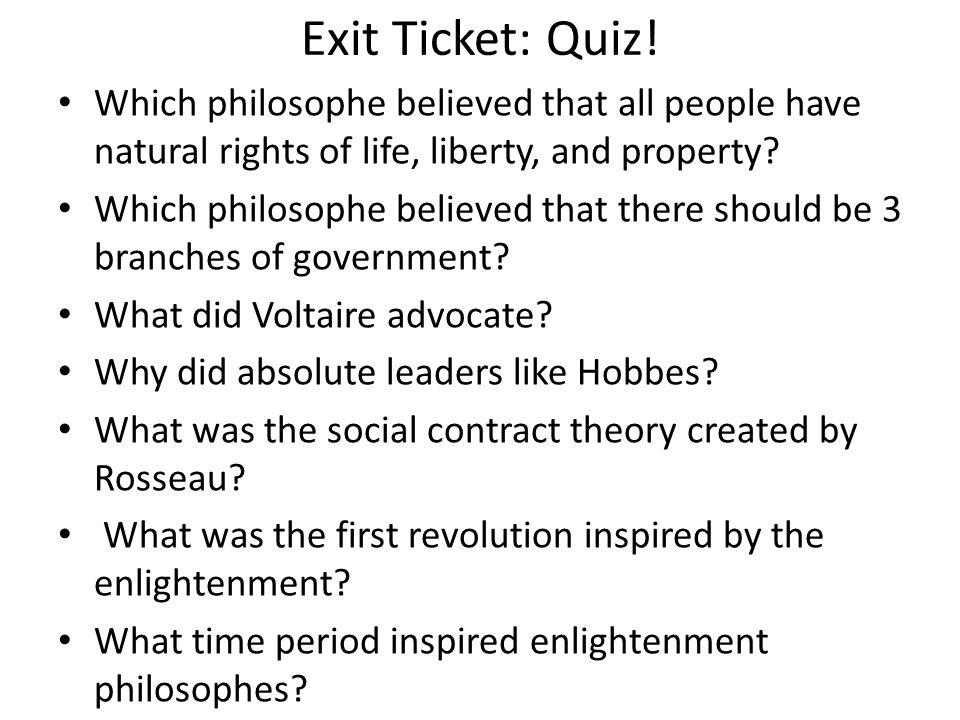 Exit Ticket: Quiz.