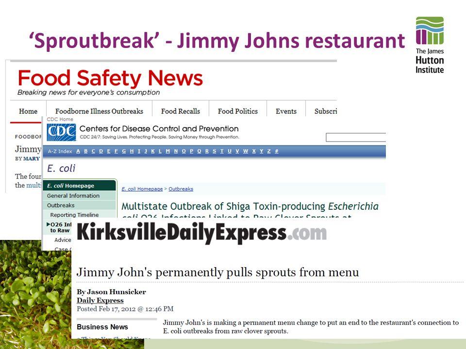 'Sproutbreak' - Jimmy Johns restaurant