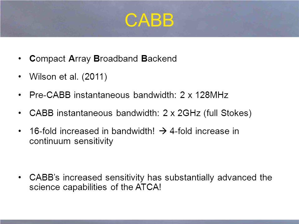 CABB Compact Array Broadband Backend Wilson et al.
