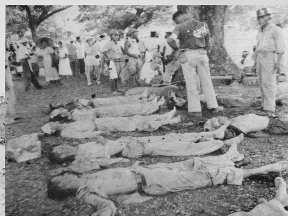 Bataan Death March : April, 1942 76,000 prisoners [12,000 Americans] Marched 60 miles in the blazing heat to POW camps in the Philippines.