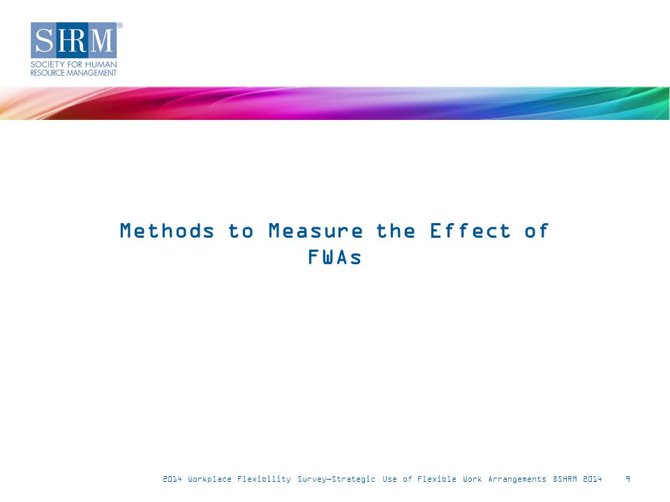 Established method(s) to measure the effect of FWAs on recruitment and retention 10 Note: n = 246-250.
