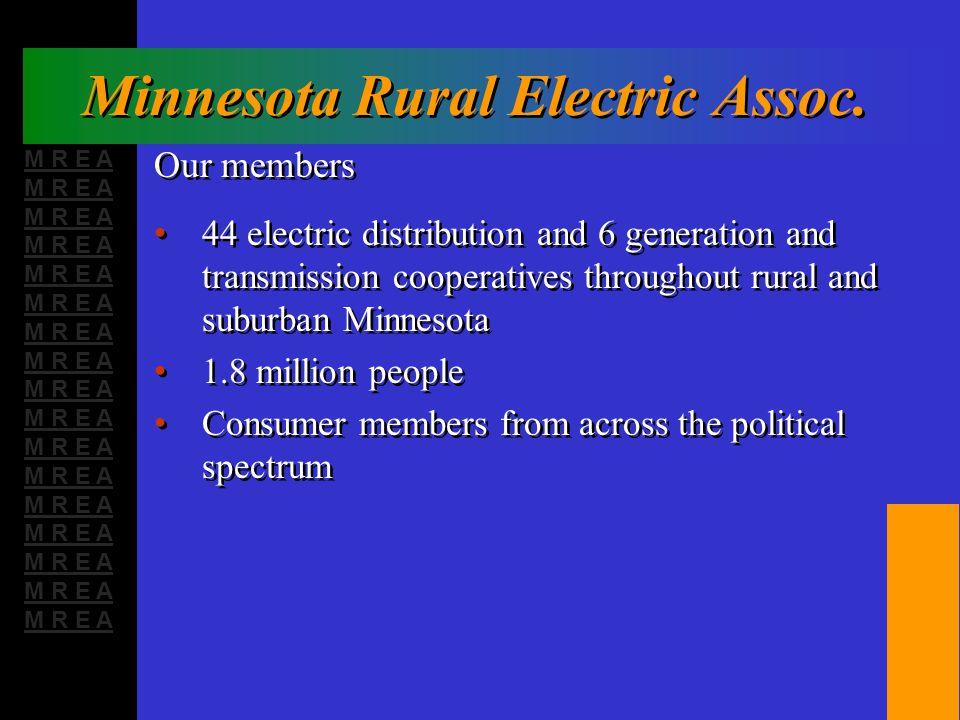 M R E A Minnesota Rural Electric Assoc.