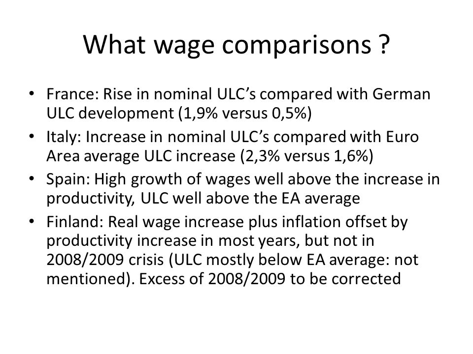 What wage comparisons .