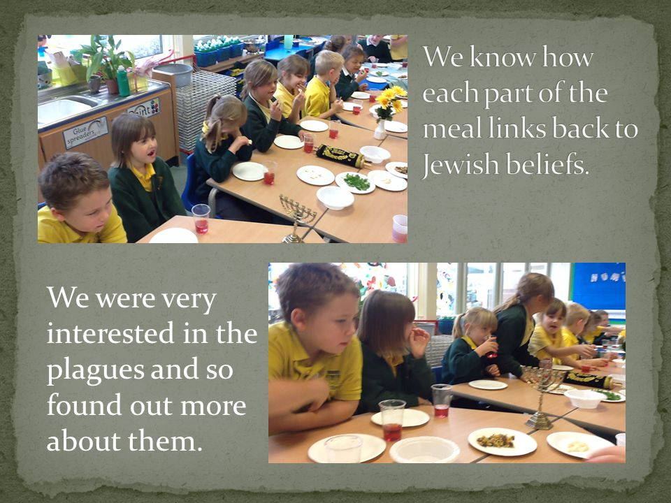 We were very interested in the plagues and so found out more about them.