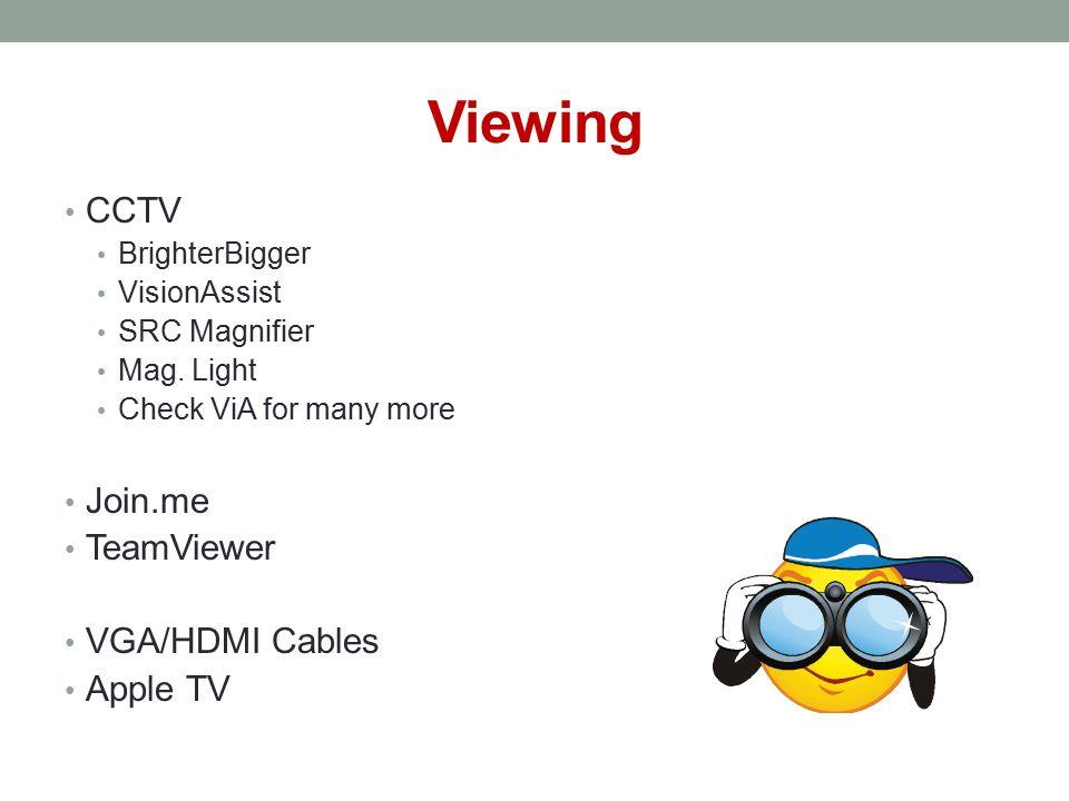 Viewing CCTV BrighterBigger VisionAssist SRC Magnifier Mag.
