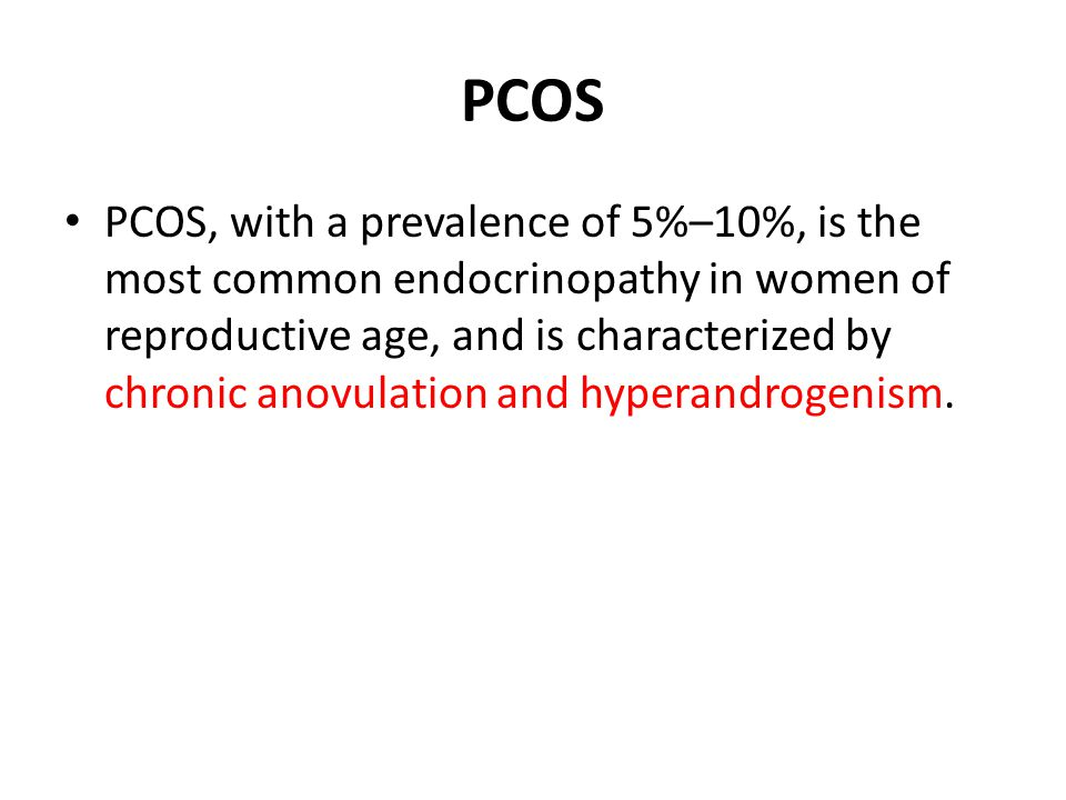 PCOS To evaluate whether electro-acupuncture could affect oligo- /anovulation and related endocrine and neuroendocrine parameters in women with PCOS, twenty-four women with PCOS and oligo- /amenorrhoea were included in a non-randomized, longitudinal, prospective study (Stener-Victorin et al., 2000).