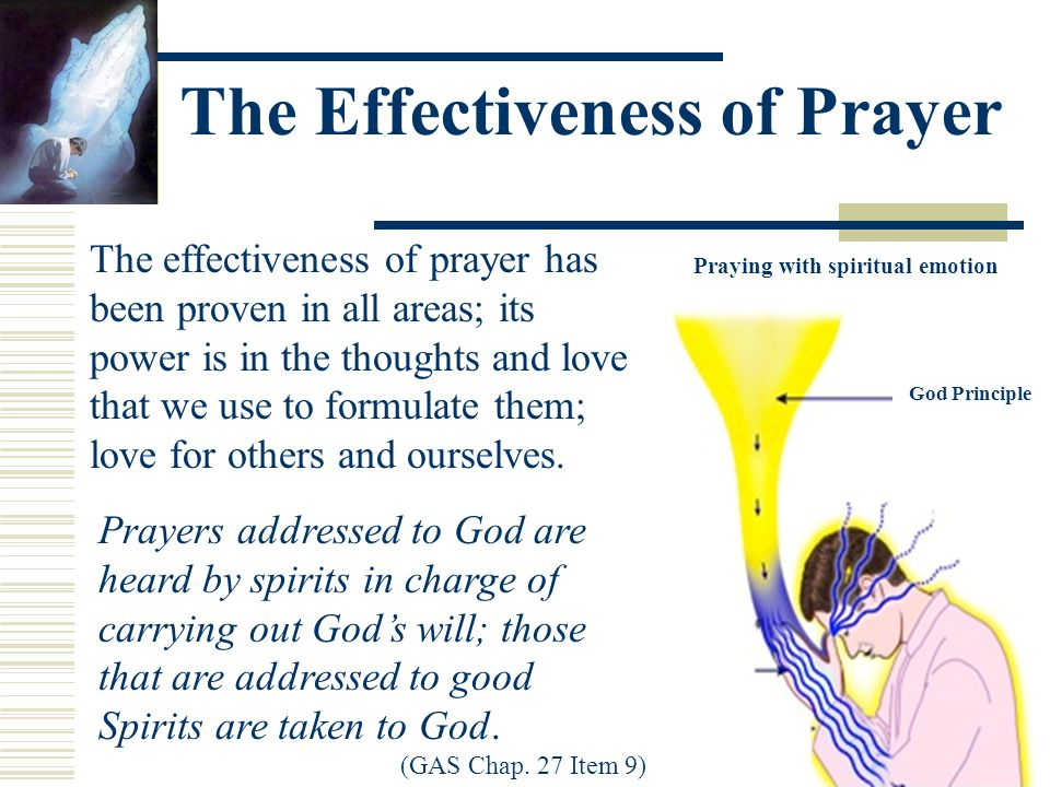 Prayers addressed to God are heard by spirits in charge of carrying out God's will; those that are addressed to good Spirits are taken to God.