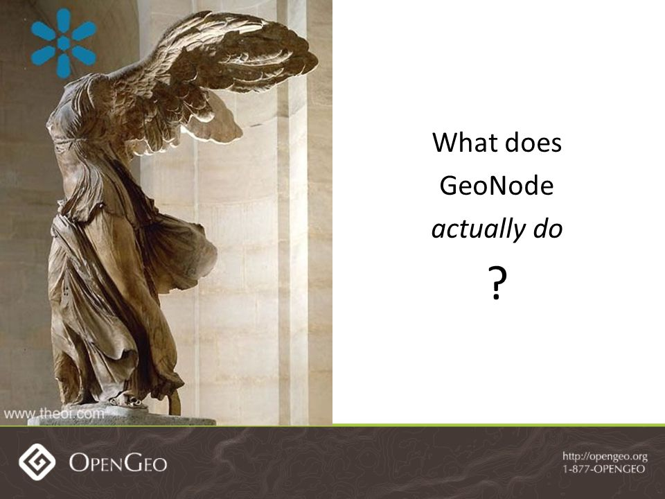 What does GeoNode actually do