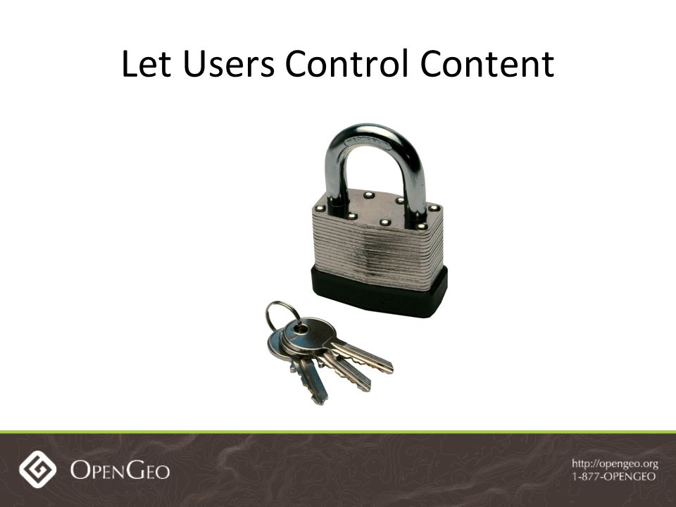 Let Users Control Content