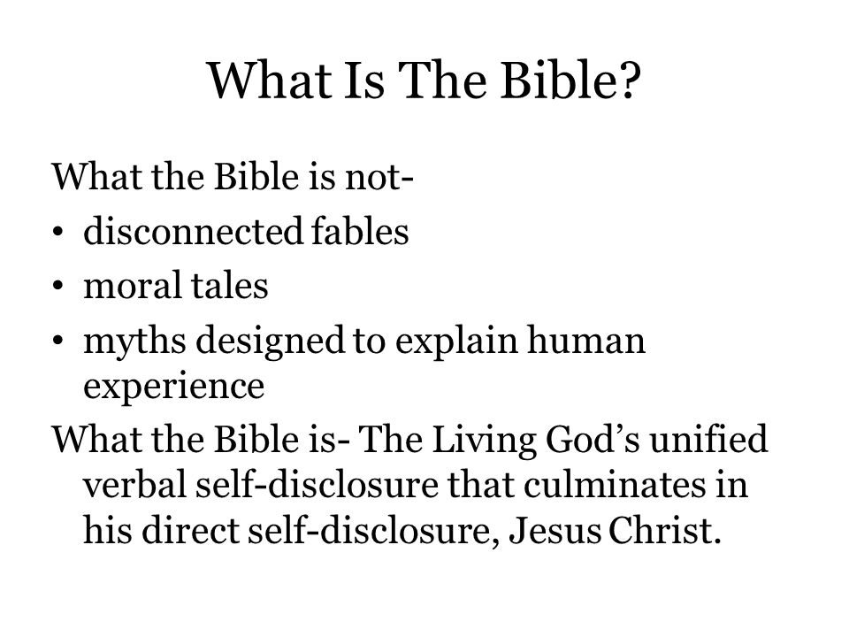 Why Believe the Bible.That's a very strong claim to make about the Bible.