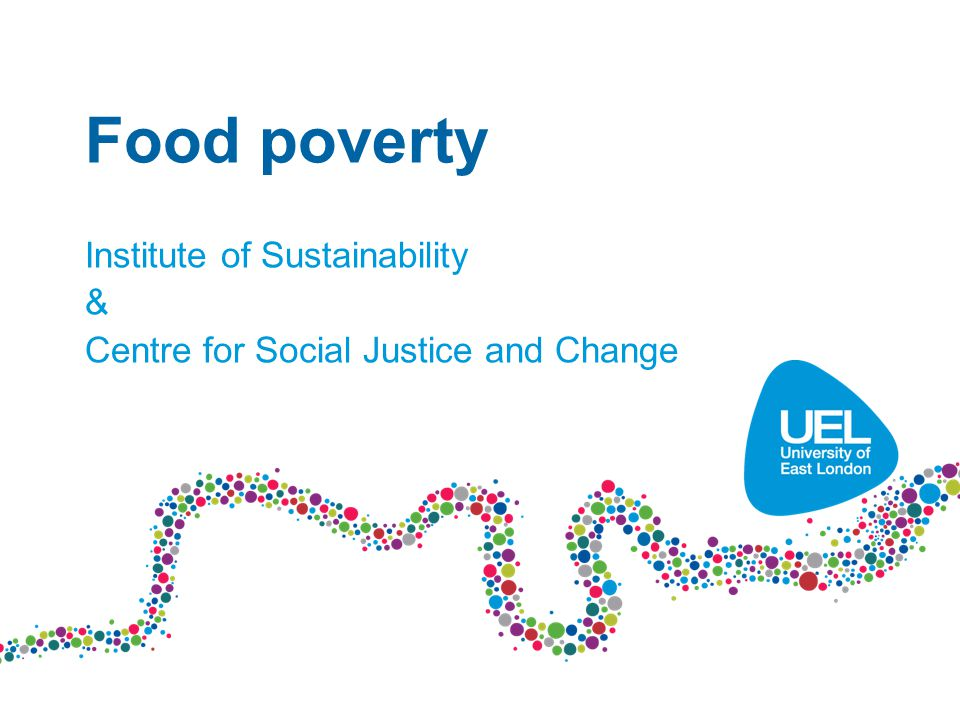 Food poverty Institute of Sustainability & Centre for Social Justice and Change