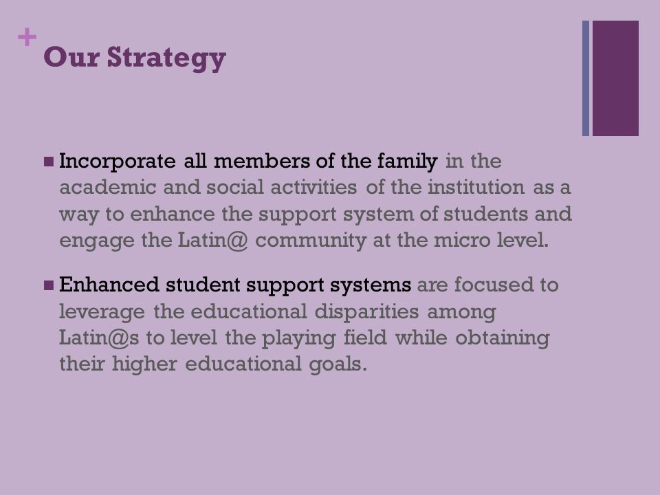 + Our Strategy Competencies are expected of all faculty, students, staff, administrators, and Board members.