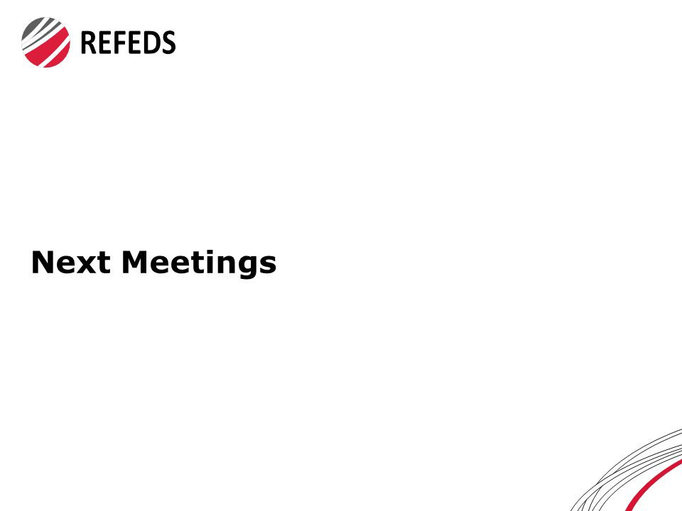 Next Meetings