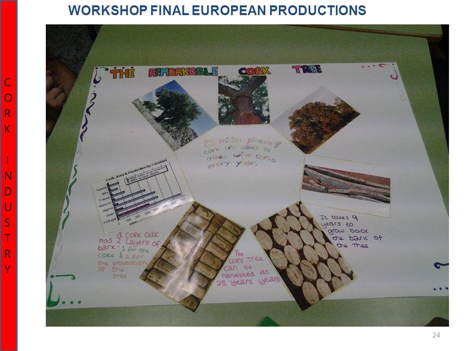 24 WORKSHOP FINAL EUROPEAN PRODUCTIONS CORK INDUSTRYCORK INDUSTRY