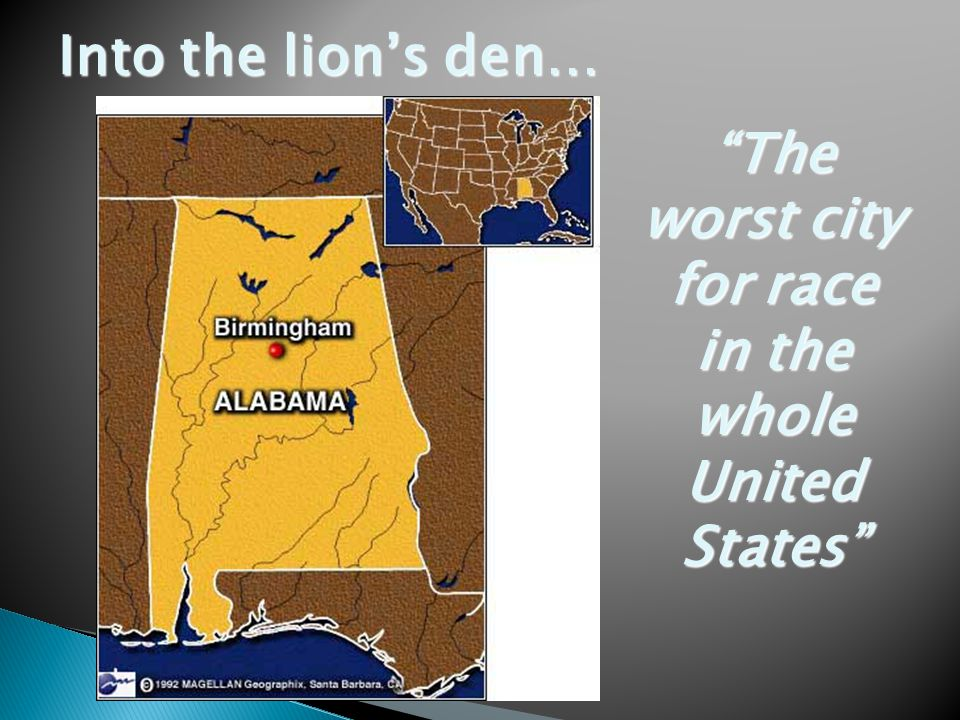Into the lion's den… The worst city for race in the whole United States