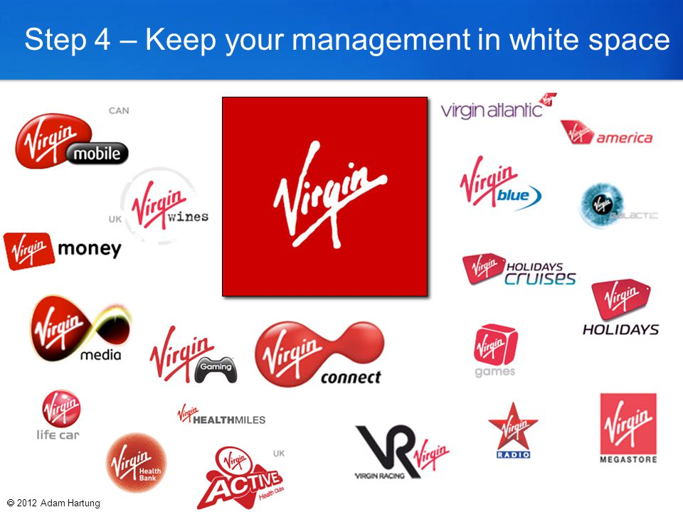 Step 4 – Keep your management in white space  2012 Adam Hartung