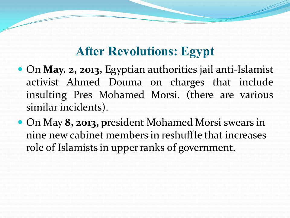 After Revolutions: Egypt On May.