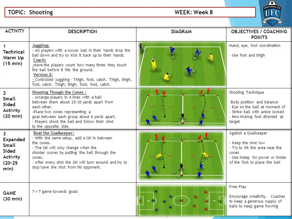TOPIC: Shooting WEEK: Week 8