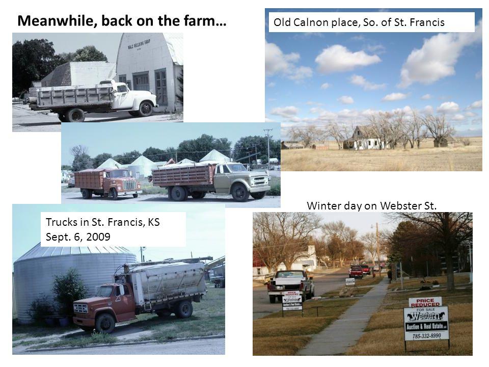 Trucks in St. Francis, KS Sept. 6, 2009 Old Calnon place, So.