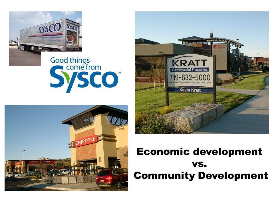 Economic development vs. Community Development