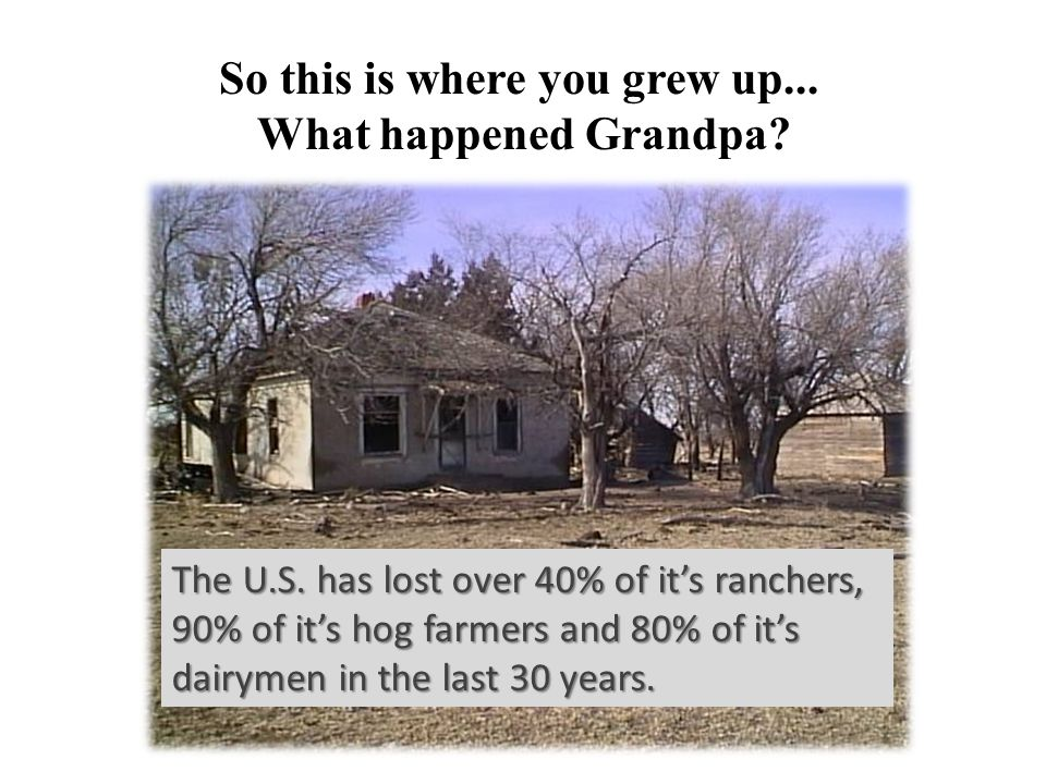 So this is where you grew up... What happened Grandpa.