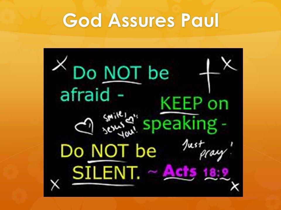 God Assures Paul
