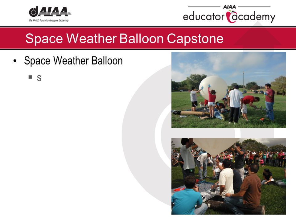 Space Weather Balloon Capstone Space Weather Balloon  s