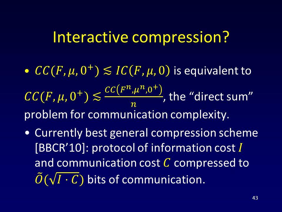 Interactive compression 43
