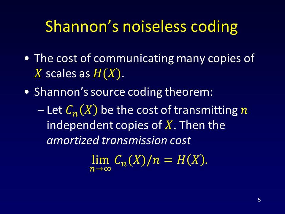 Shannon's noiseless coding 5