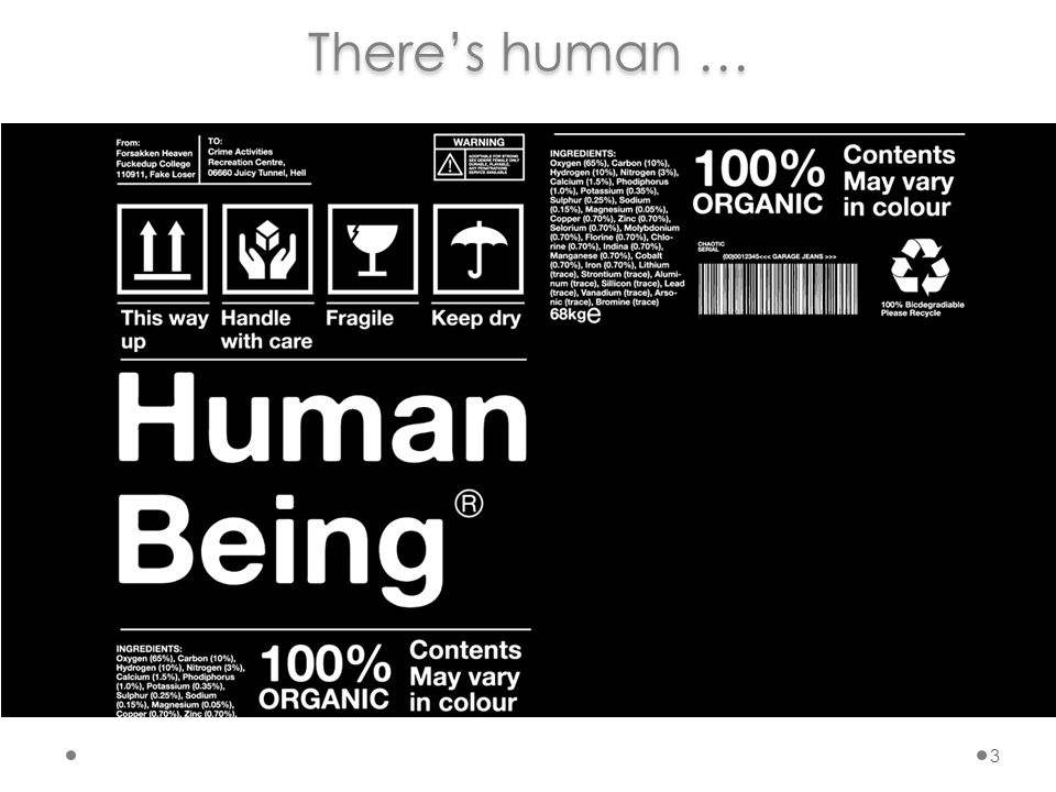 1.HUMAN   Products of Conception2. PARTIALLY HUMAN & ORGANIC   Xenotransplantee3.