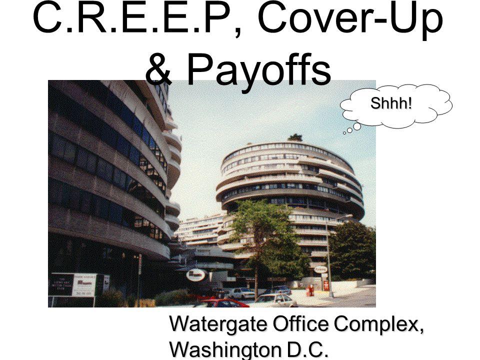 Shhh! Watergate Office Complex, Washington D.C. C.R.E.E.P, Cover-Up & Payoffs