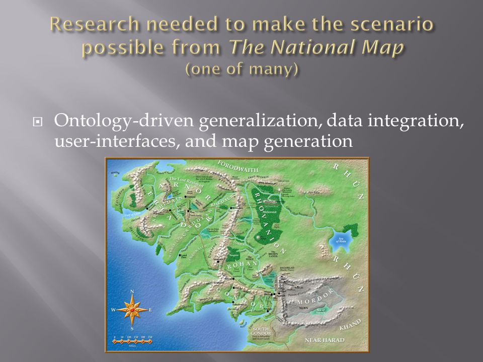  Ontology-driven generalization, data integration, user-interfaces, and map generation