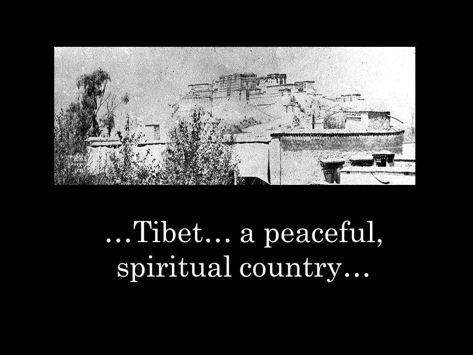 …Tibet… a peaceful, spiritual country…