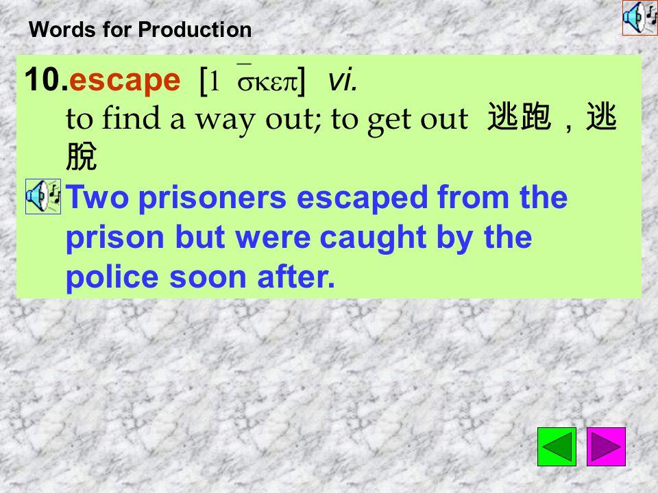 Words for Production 9. technique [ tEk`nik ] n.