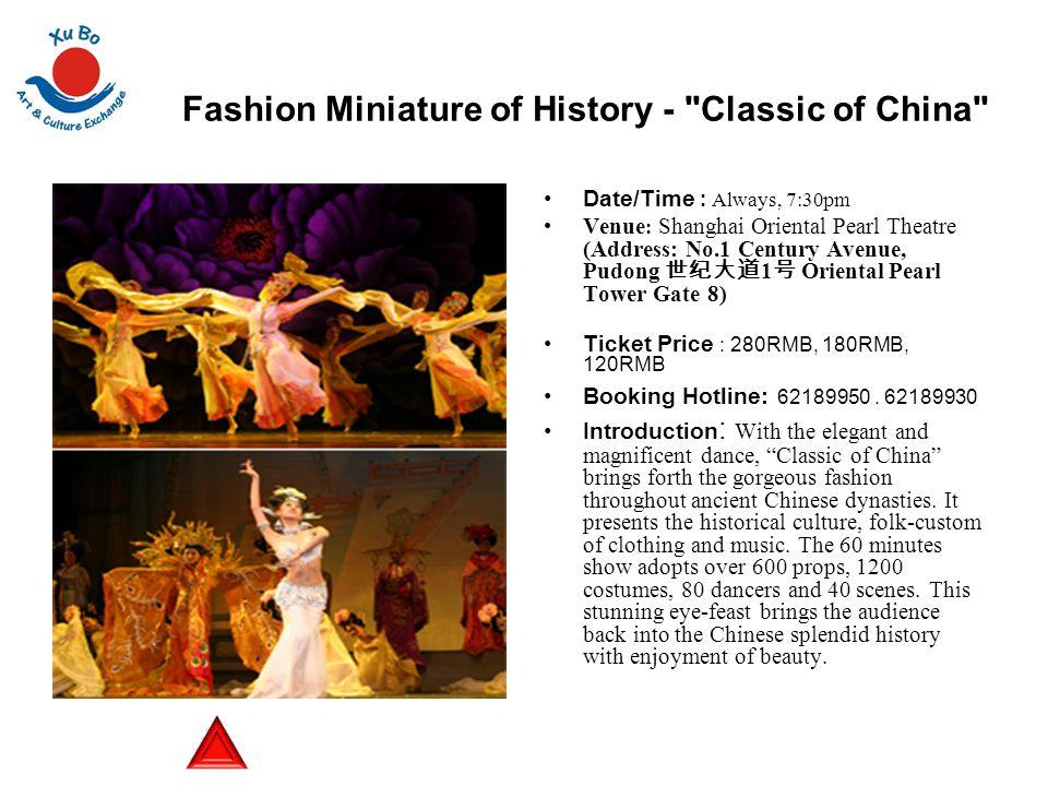 Fashion Miniature of History -