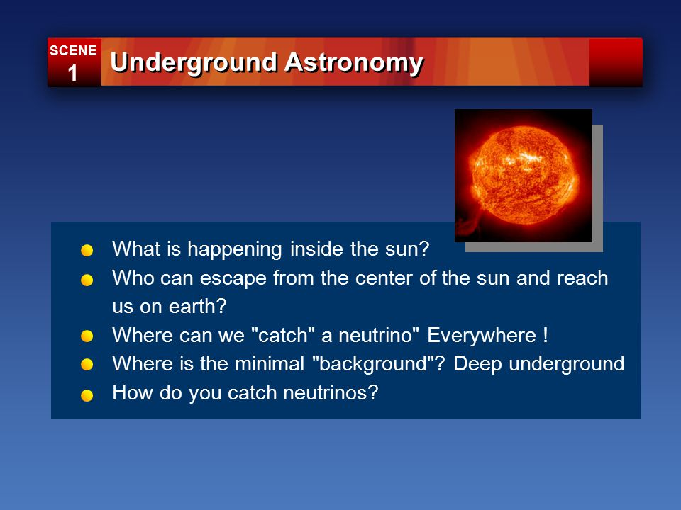 What is happening inside the sun. Who can escape from the center of the sun and reach us on earth.