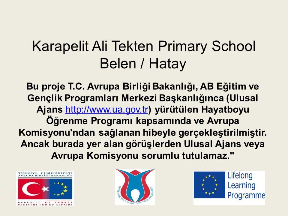 Karapelit Ali Tekten Primary School Belen / Hatay Bu proje T.C.